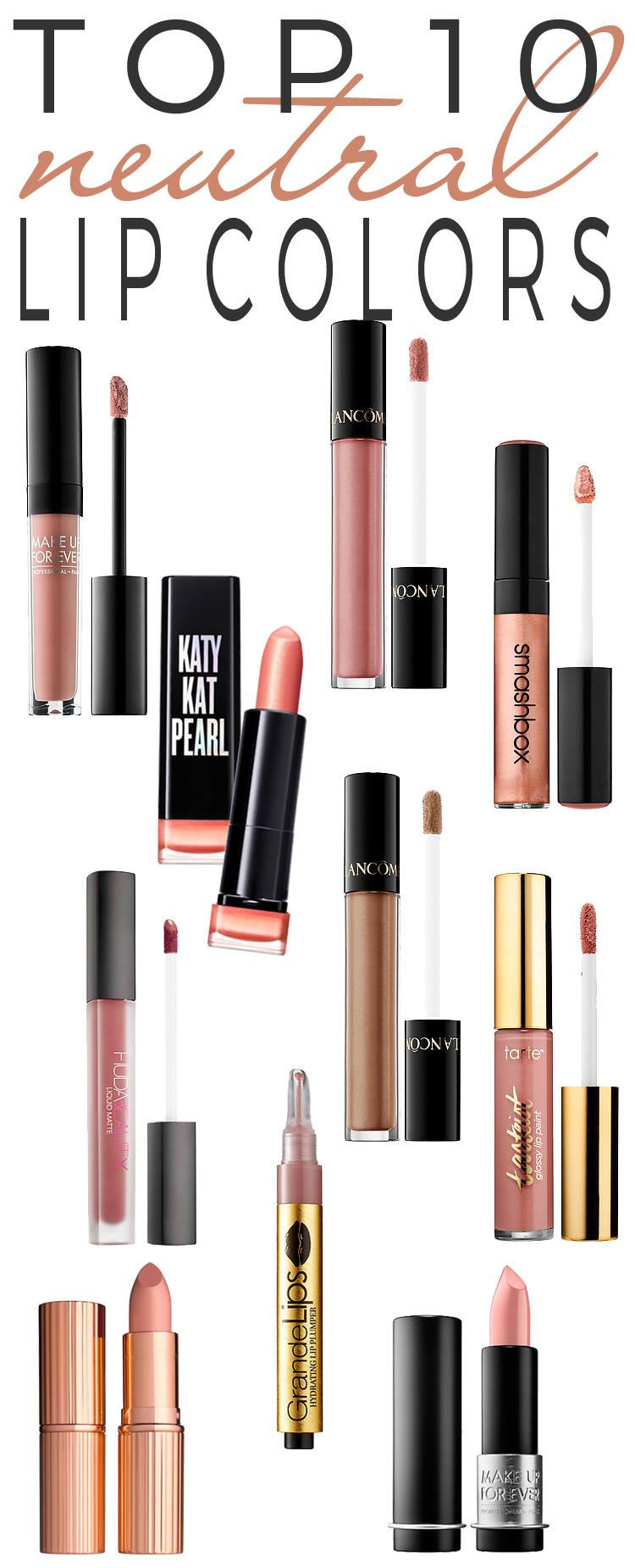 Top 10 Neutral Lip Colors