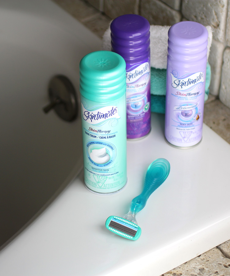 Schick + Skintimate for Smooth Legs