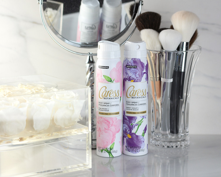 Cleaning Out and Freshening Up with Caress Botanicals Body Sprays.