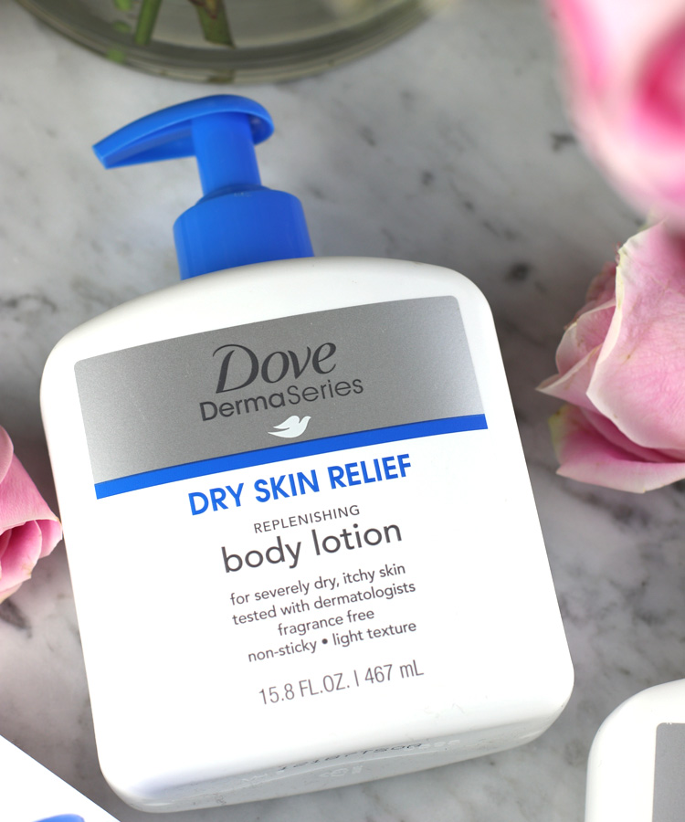 Dove DermaSeries Dry Skin Relief Replenishing Body Lotion