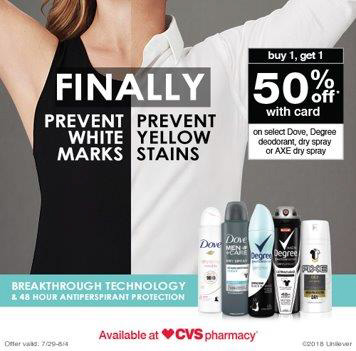 CVS Dry Sprays Offer