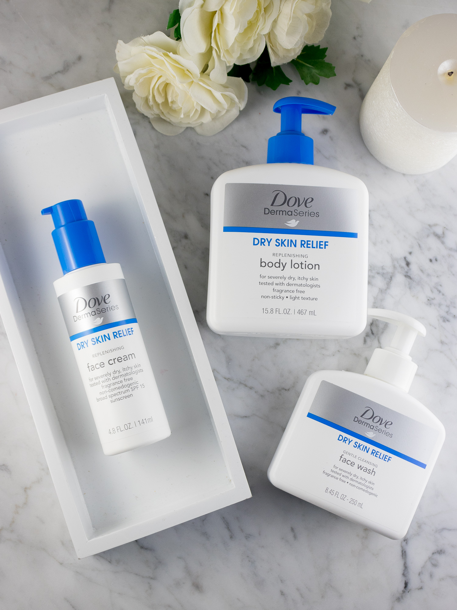 Dove DermaSeries Dry Skin Products