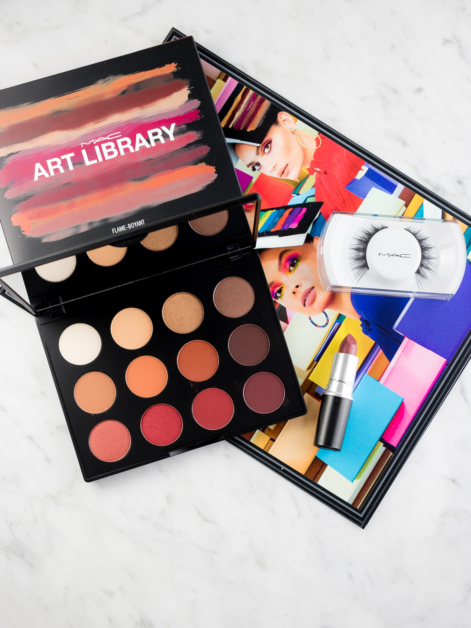 MAC Art Library Featuring the Flame-Boyant Palette