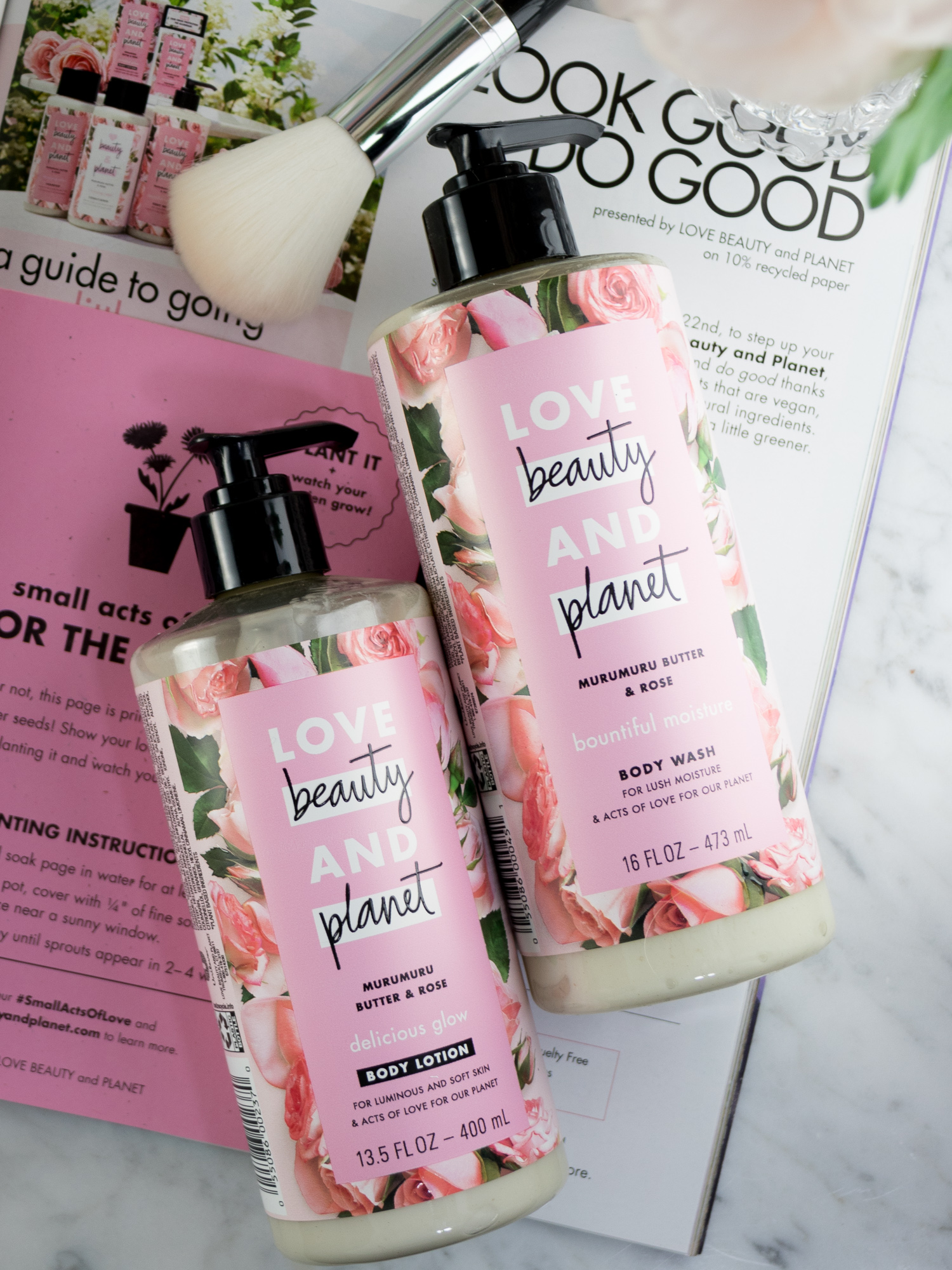 Love Beauty and Planet Bath and Body Products