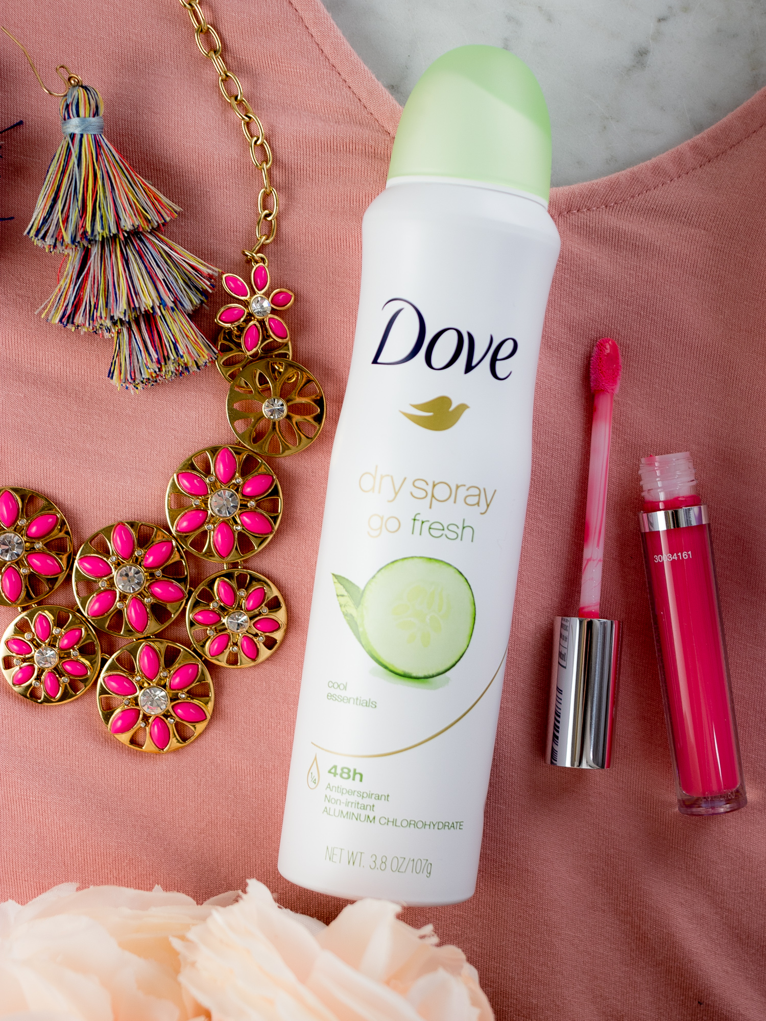 Refresh for Spring with New Clothes, Accessories and Dove Dry Spray
