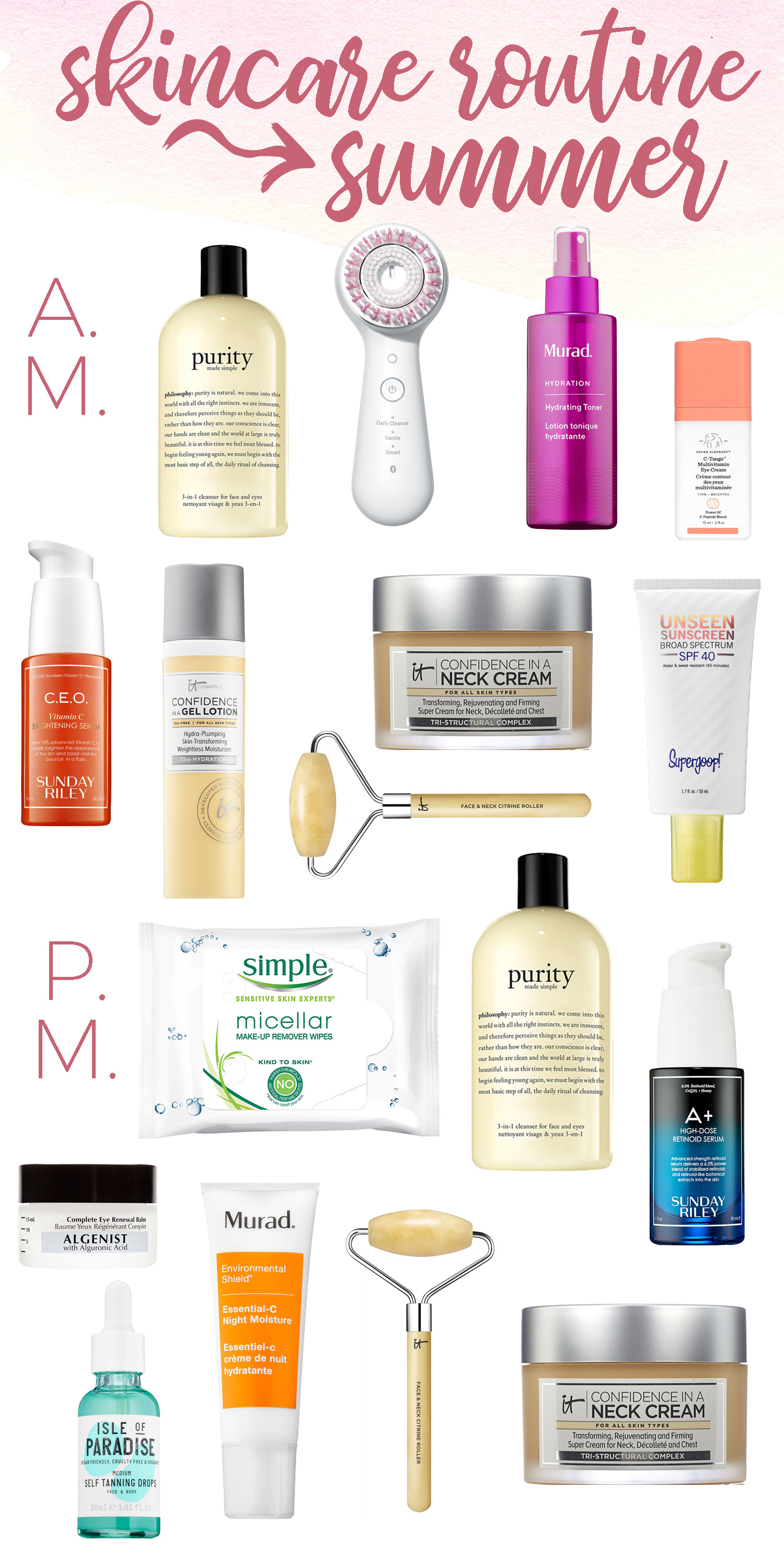 Skincare Routine for Summer
