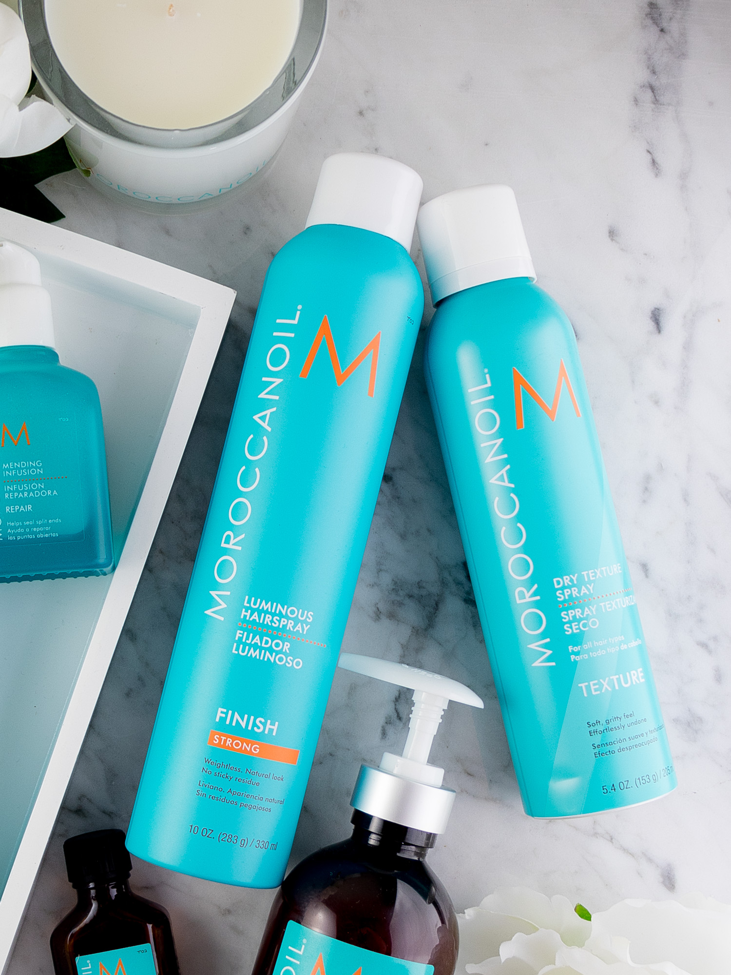 Moroccanoil Must-Haves: Dry Texture Spray & Luminous Hairspray