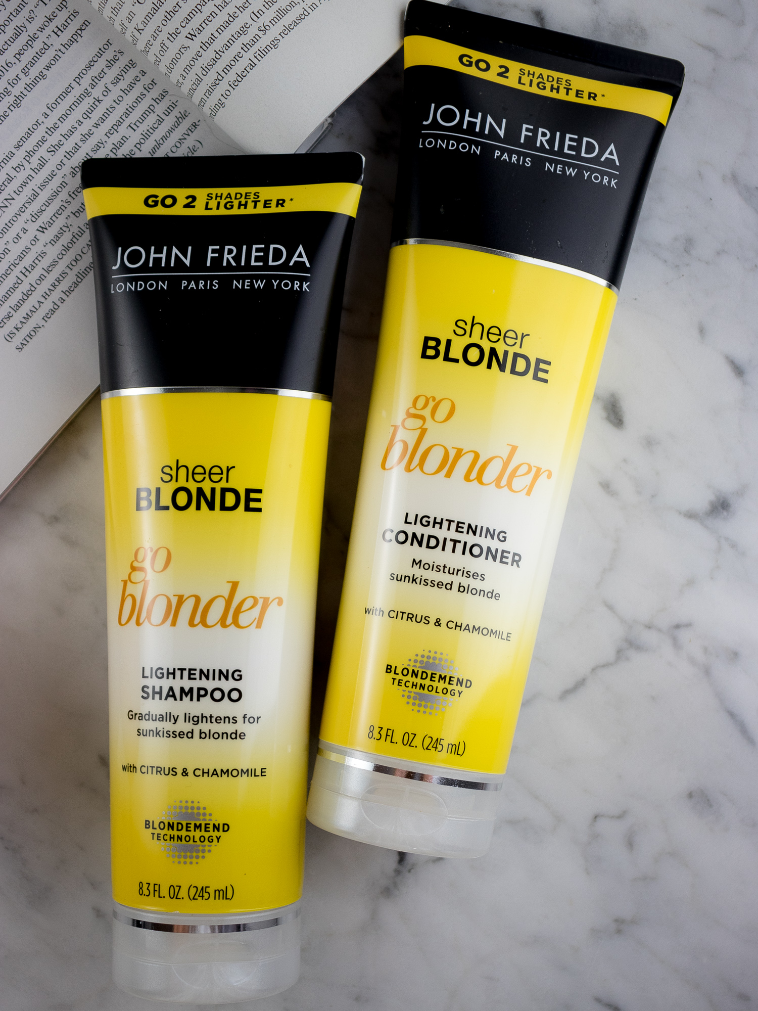 John Frieda Go Blonder Lightening Shampoo and Conditioner