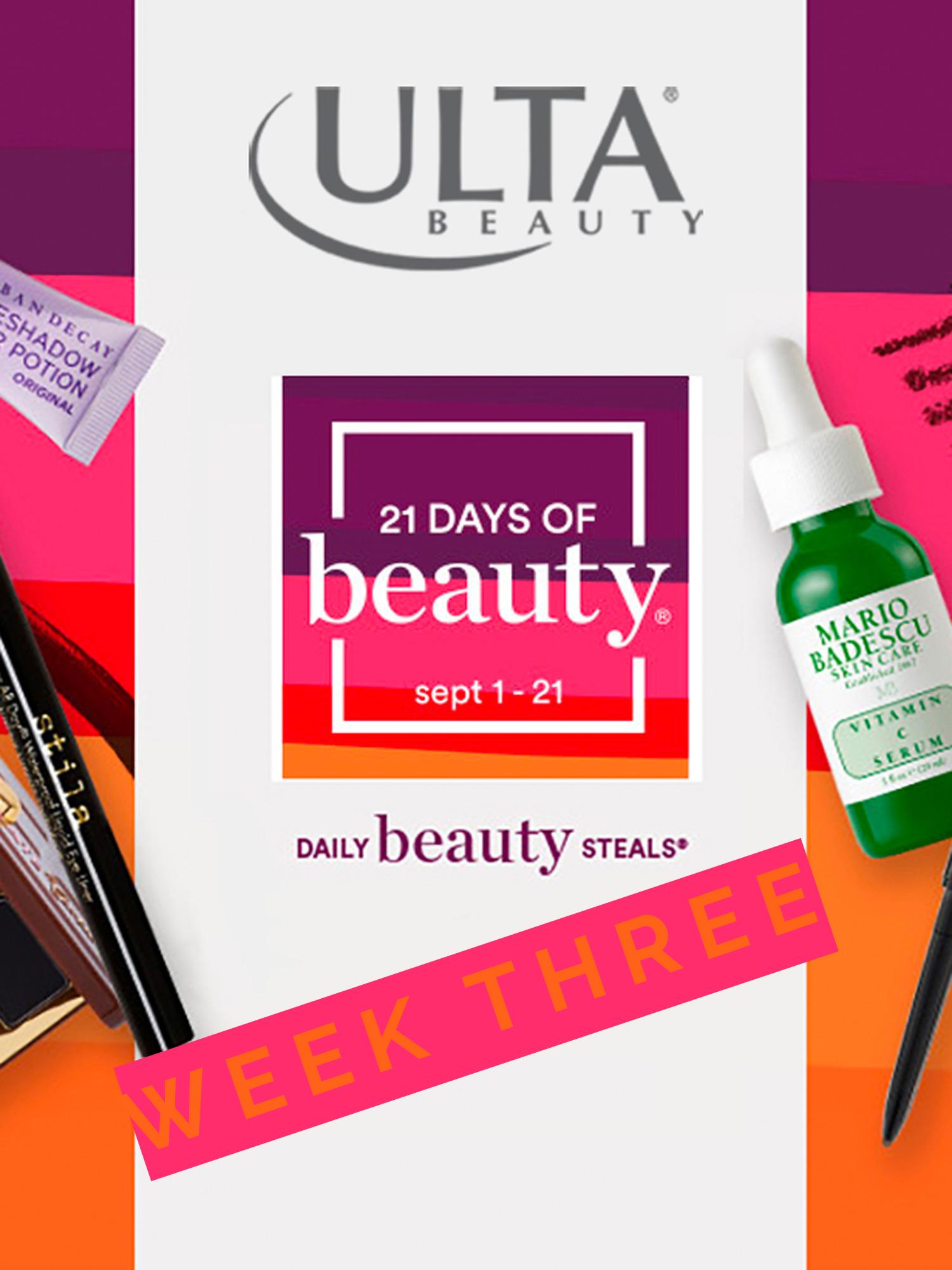 Ulta 21 Days of Beauty Week 3 Deals