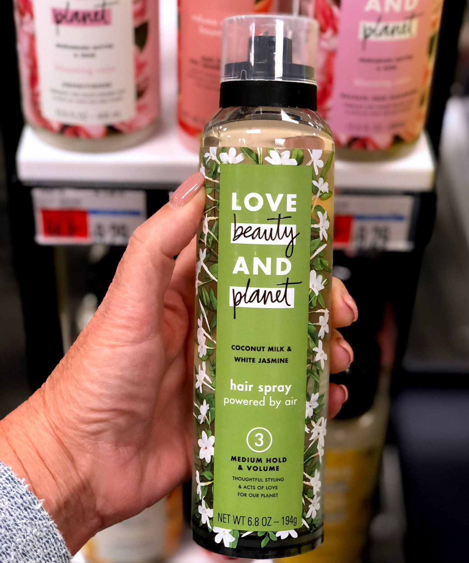 SAVE on Love, Beauty and Planet Hair Spray at CVS