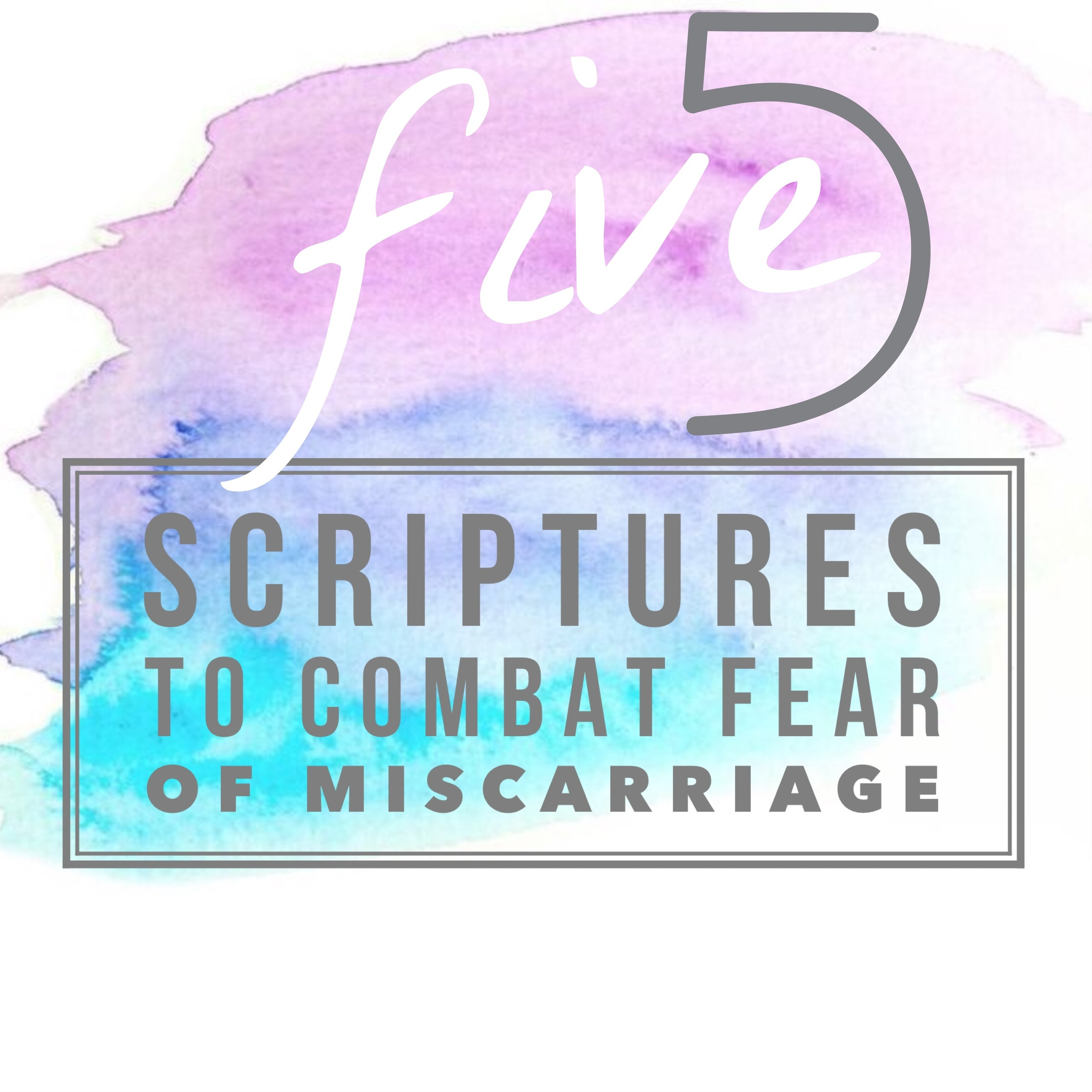 So here are 5 scriptures to help you fight that fear and step into a season of peaceful pregnancy!