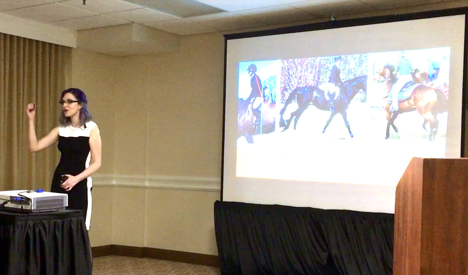 "Giving a lecture at the 2016 Pet Professional Guild Annual Summit Entitled: ""The Conscious Equestrian: Extinguishing Force From the Rider's Repertoire"""