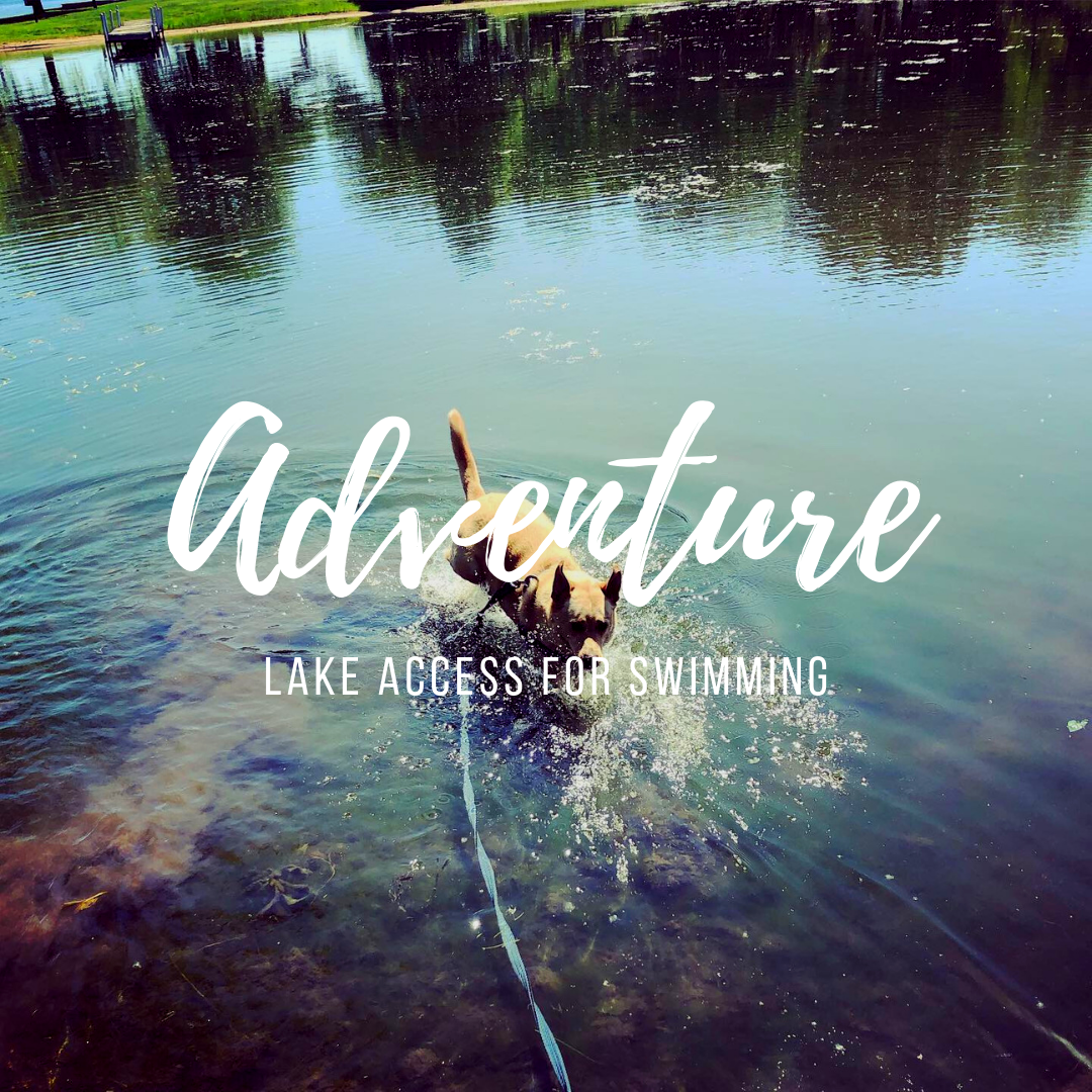 Located on Gages Lake, a quiet lake used for recreational boating and fishing with warm waters and numerous small beaches and parks for swimming, wading, splashing and more!