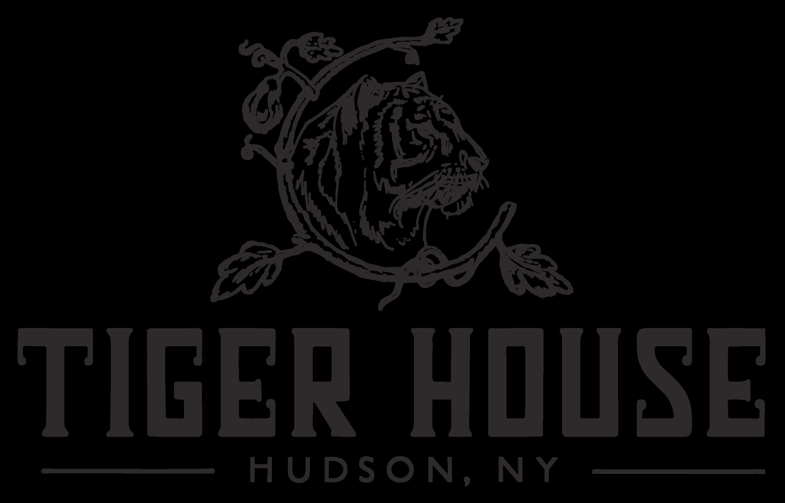Tiger House - Secondary logo (rgb:web) - Horizontal - B&W - Transparent background.png
