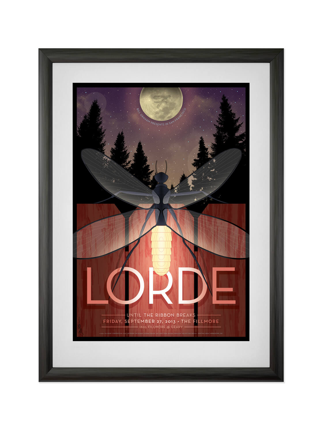 LORDE • FILLMORE SF • 9/27/2013  Poster for teenage phenom Lorde's first-ever Fillmore performance. Buy now.