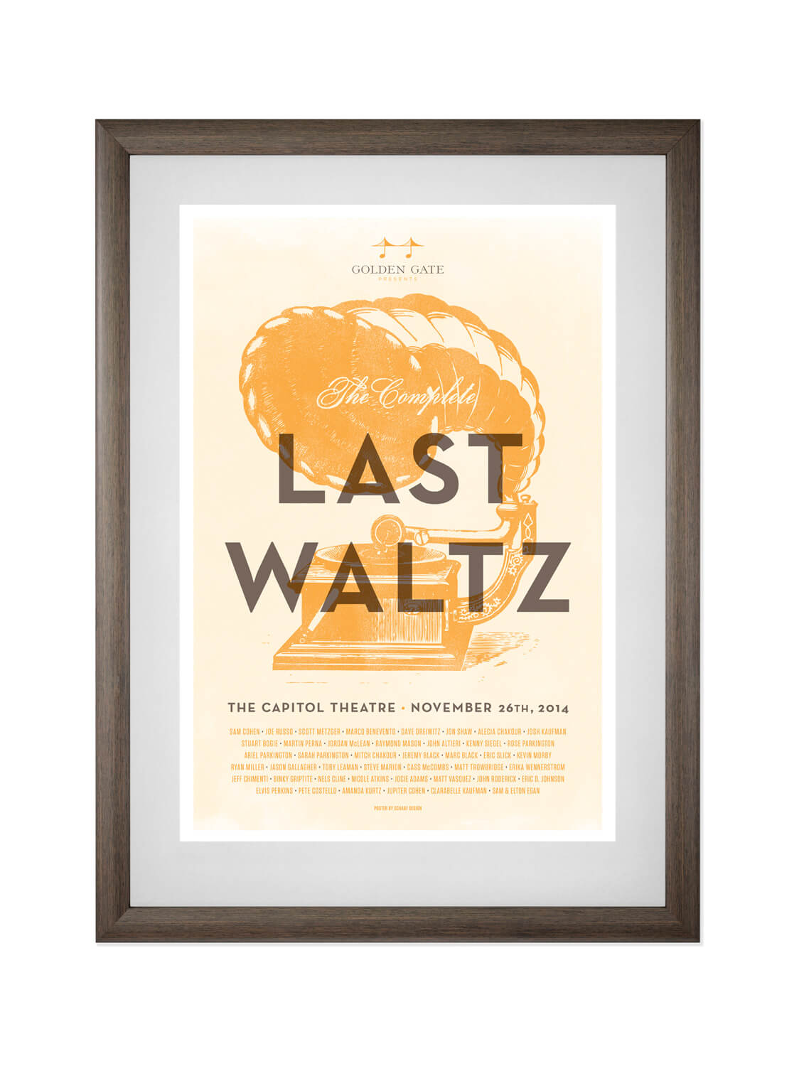 THE COMPLETE LAST WALTZ • THE CAPITOL THEATER, NY • 11/24/2012  Poster for The Complete Last Waltz, a song-for-song recreation of The Band's historic final concert.
