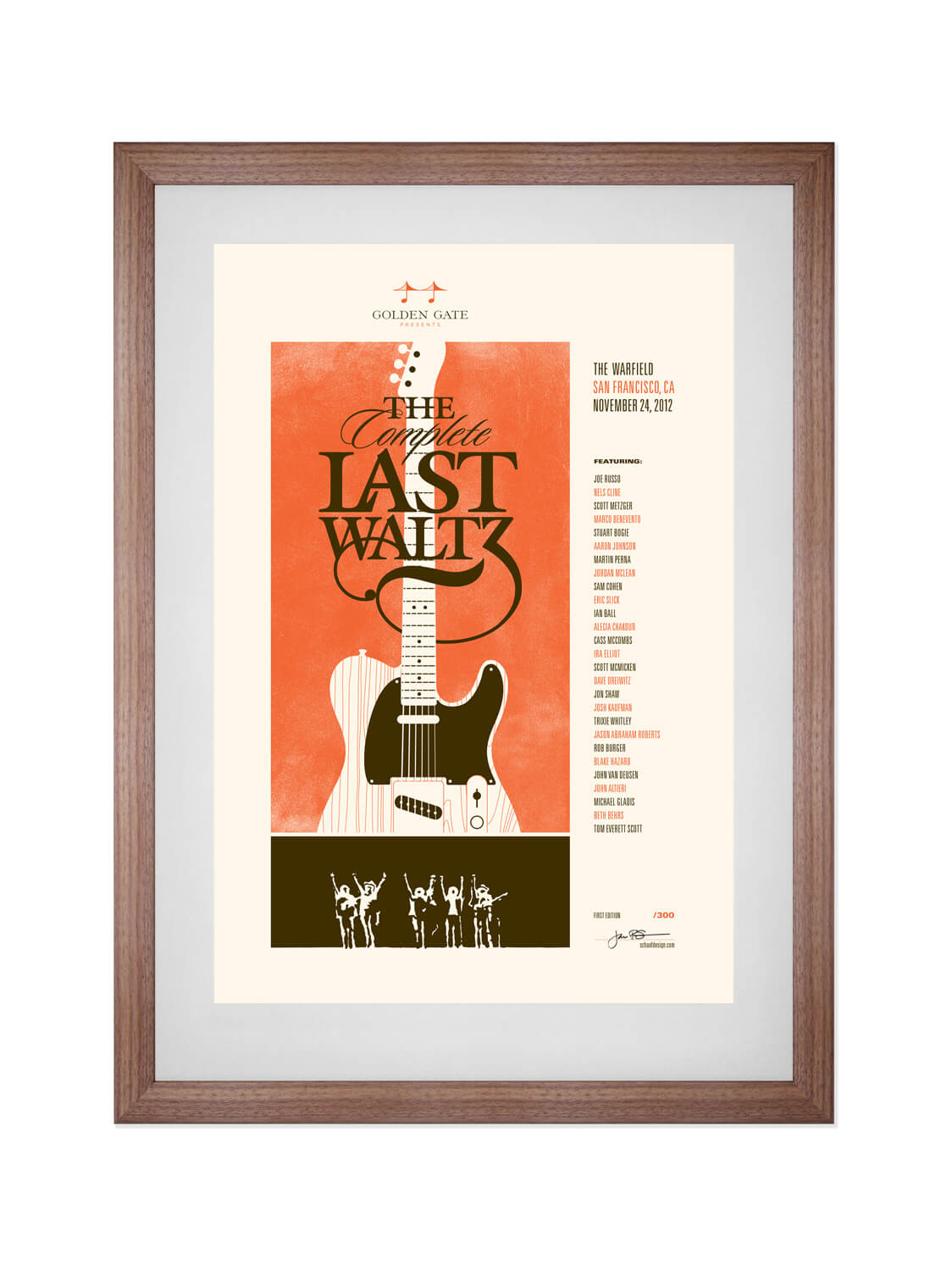 THE COMPLETE LAST WALTZ • THE WARFIELD, SF • 11/24/2012  Poster for The Complete Last Waltz, a song-for-song recreation of The Band's historic final concert.