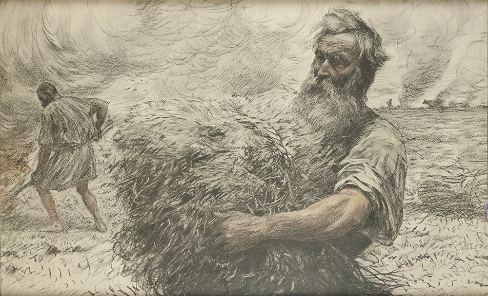 """Eugène Burnand (1850-1921): """"Parable of the Wheat and the Tares"""""""