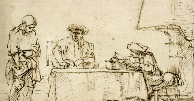 """Rembrandt van Rijn, """"Parable of the Talents"""""""