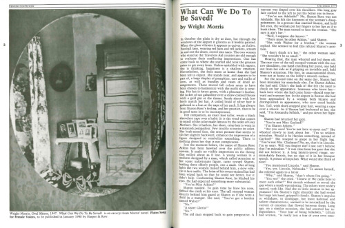Artwork and fiction from Wright Morris in an issue of  Bennington Review from 1979