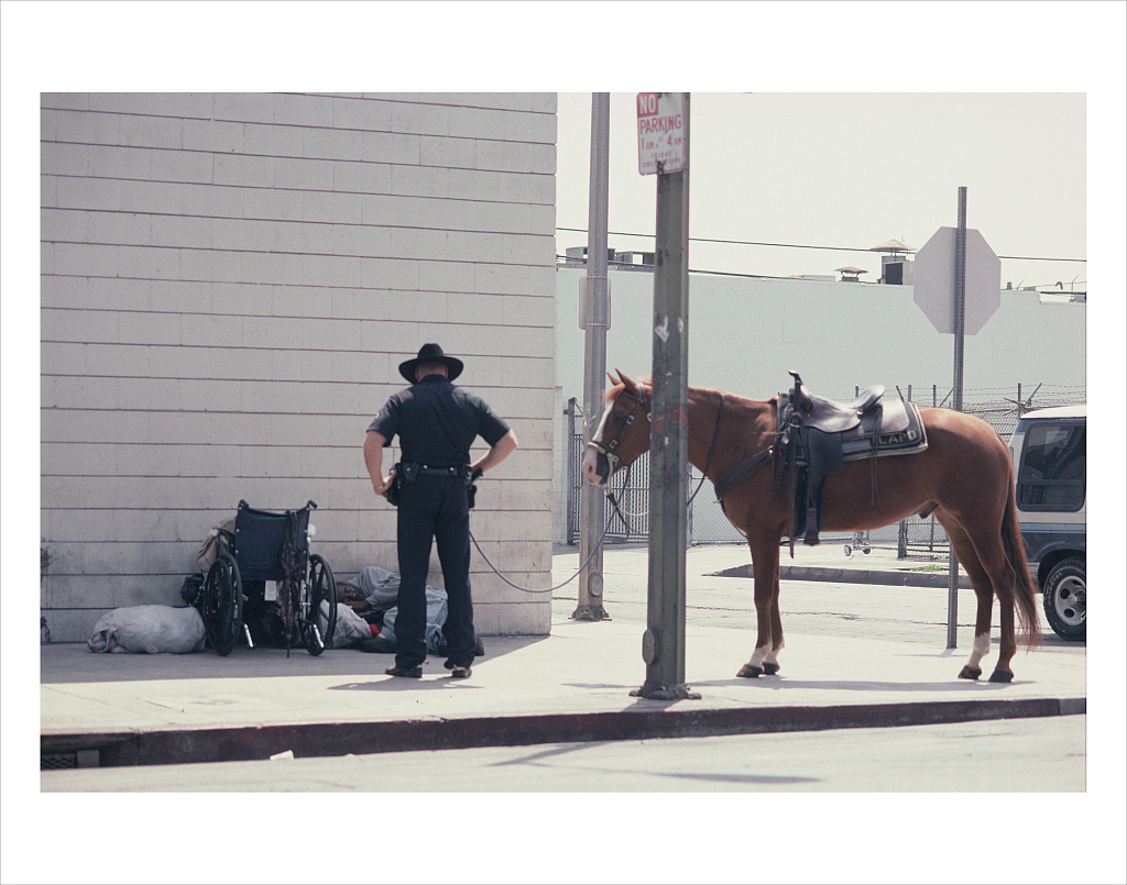 S. E. corner of St. Julian and 6th St., Skid Row, Los Angeles, 2003.   Vergara, Camilo J.  , photographer.