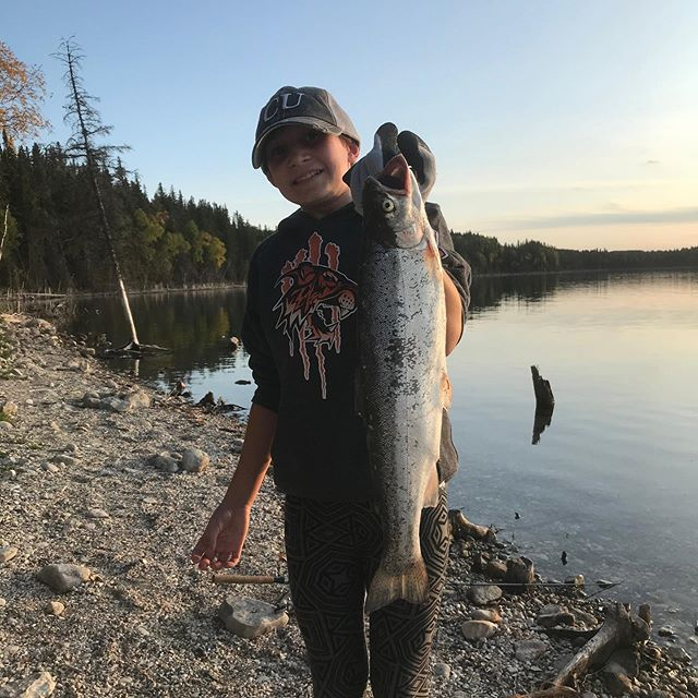 #mckennascatch #kidsfishing #shorefishing #birthdaygirl #greatcatch #rainbow #rainbowtrout #troutfishing #duckmountain