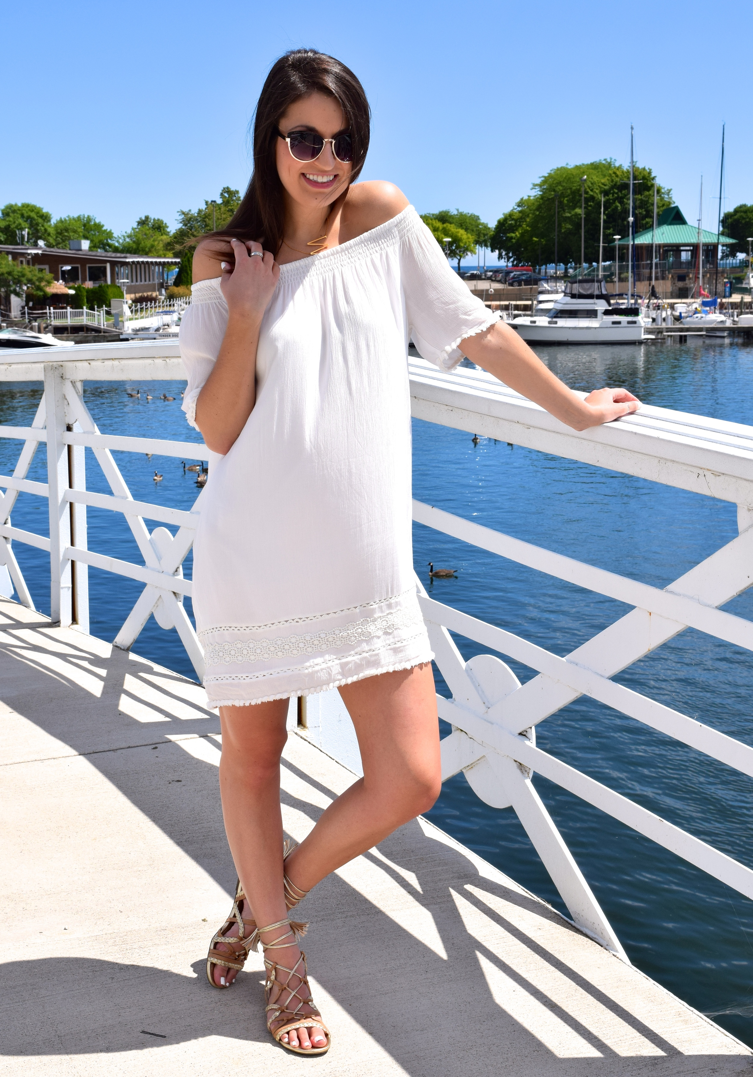 Loft Off Shoulder Dress
