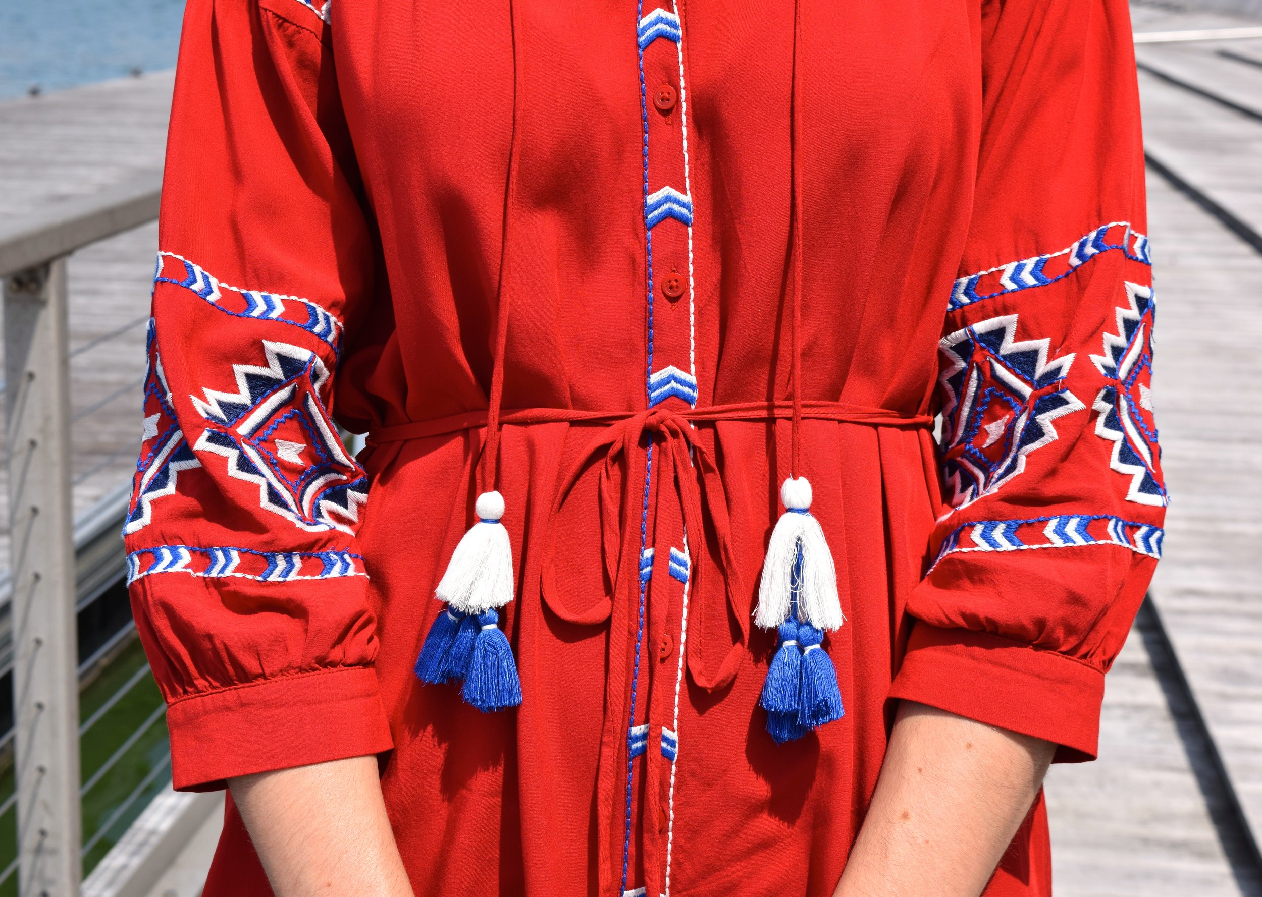 Loft Aztec Tassle Dress