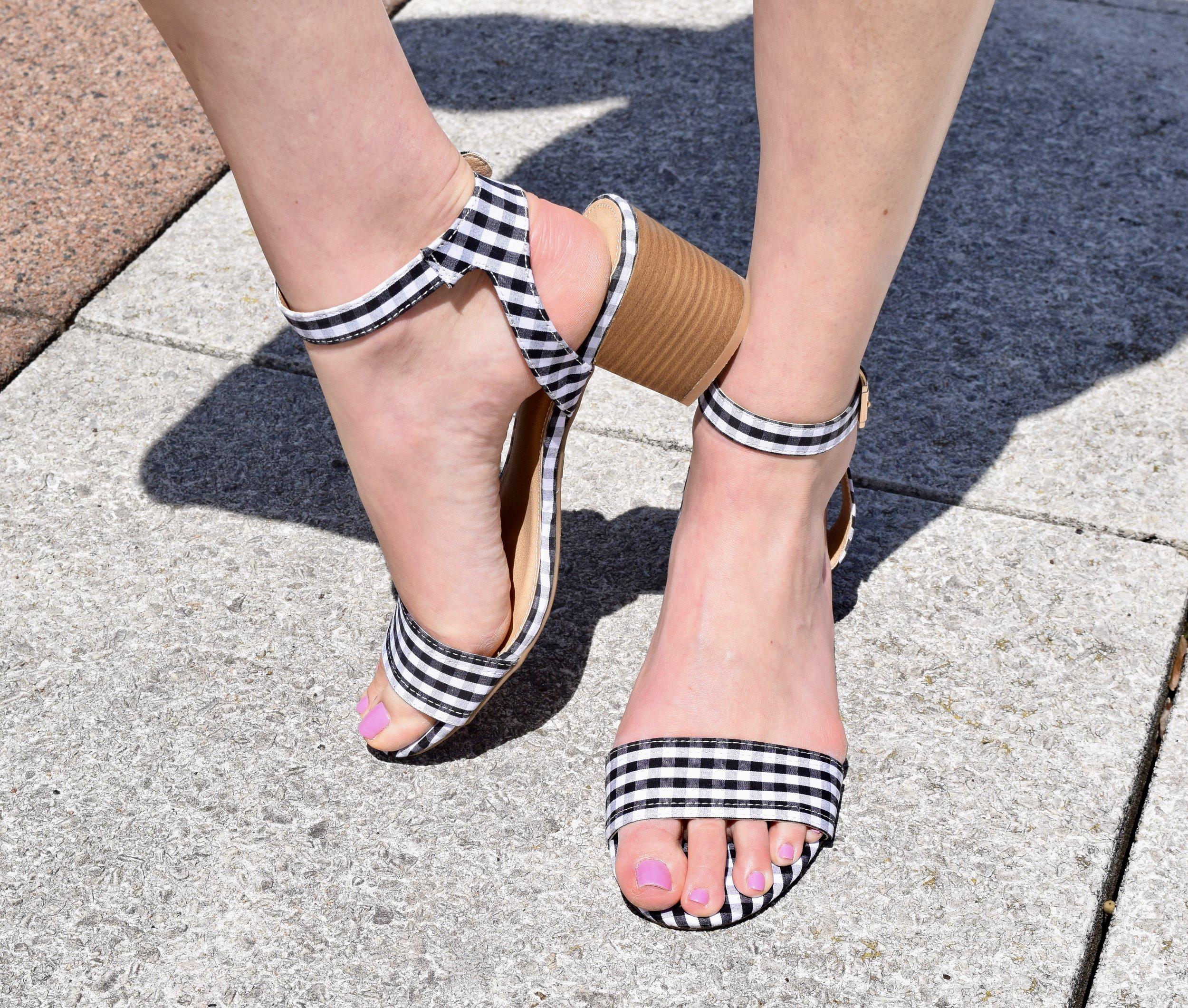 Gingham City Sandals
