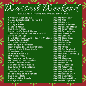 Friday Wassail Stops flyer