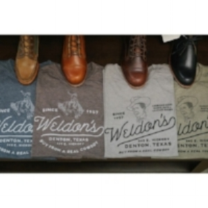 A picture of Weldon's t shirts and boots