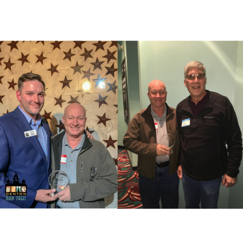 Current Denton MSA President Glen Farris and Craig Thomas ( son of late Bill Thomas)with Outstanding Business Volunteer of the Year Award recipient, Ken Willis.