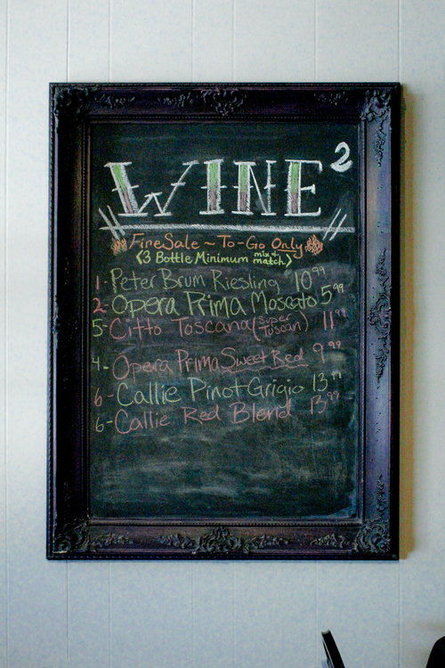 a picture of a wine list on a chalkboard