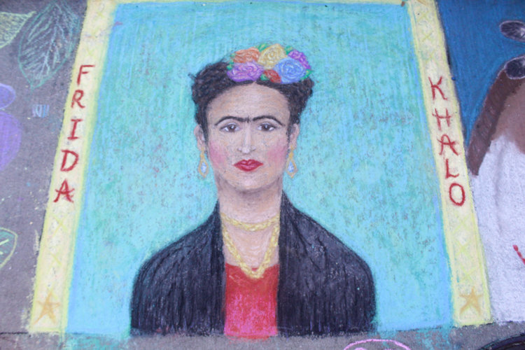 a chalk art tribute to frida-kahlo.jpg