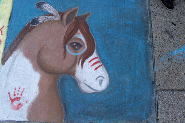 ahorse-chalk-2017-design of a native american warhorse
