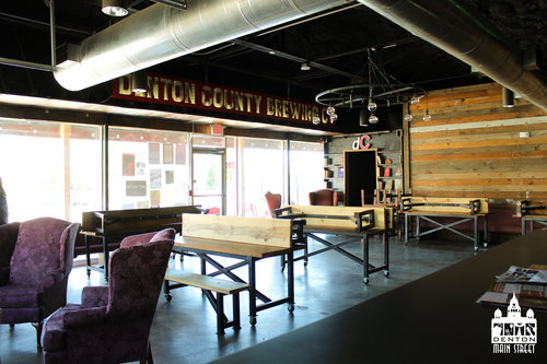 a picture of the inside of denton county brewing company