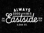 "a black logo that says ""it's always good vibes at east side"""