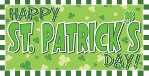 a graphic that reads happy st patrick's day!