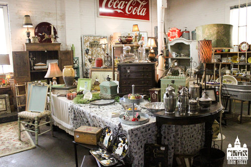 a picture of products inside a vintage shop