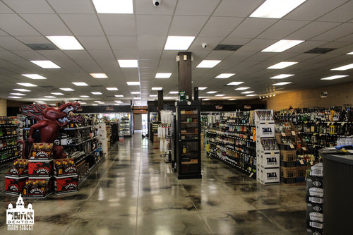 a picture of the inside of a liquor store
