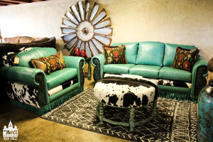 a picture of teal furniture