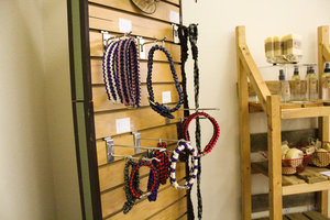 a picture of dog collars and sprays