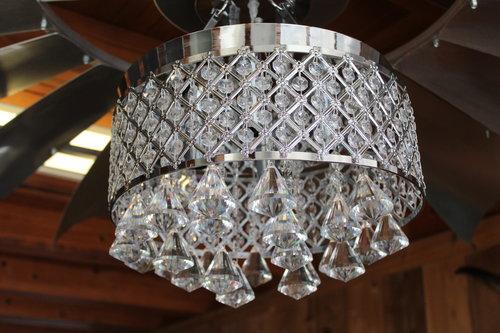 an indoor chandelier