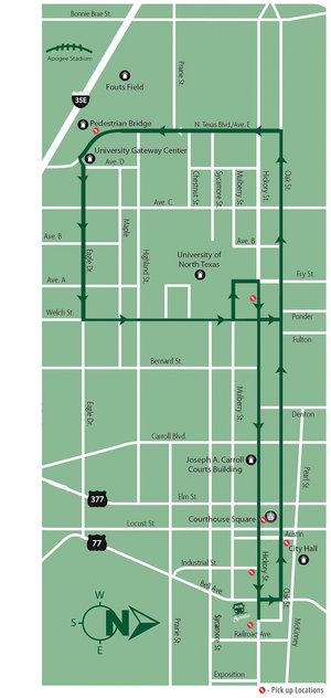 Shuttle map 2018 for unt football shuttle.jpg