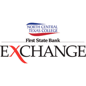 """a logo that reads """"north central texas college first state bank exchange"""""""