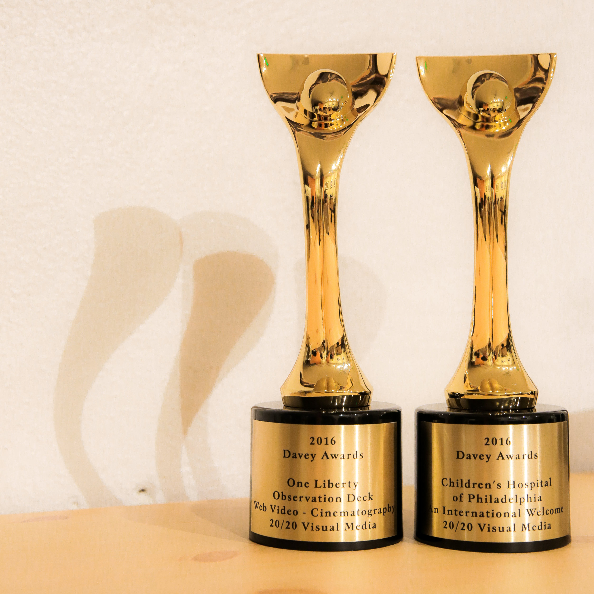 Image of Davey Awards (to be taken when they arrive).