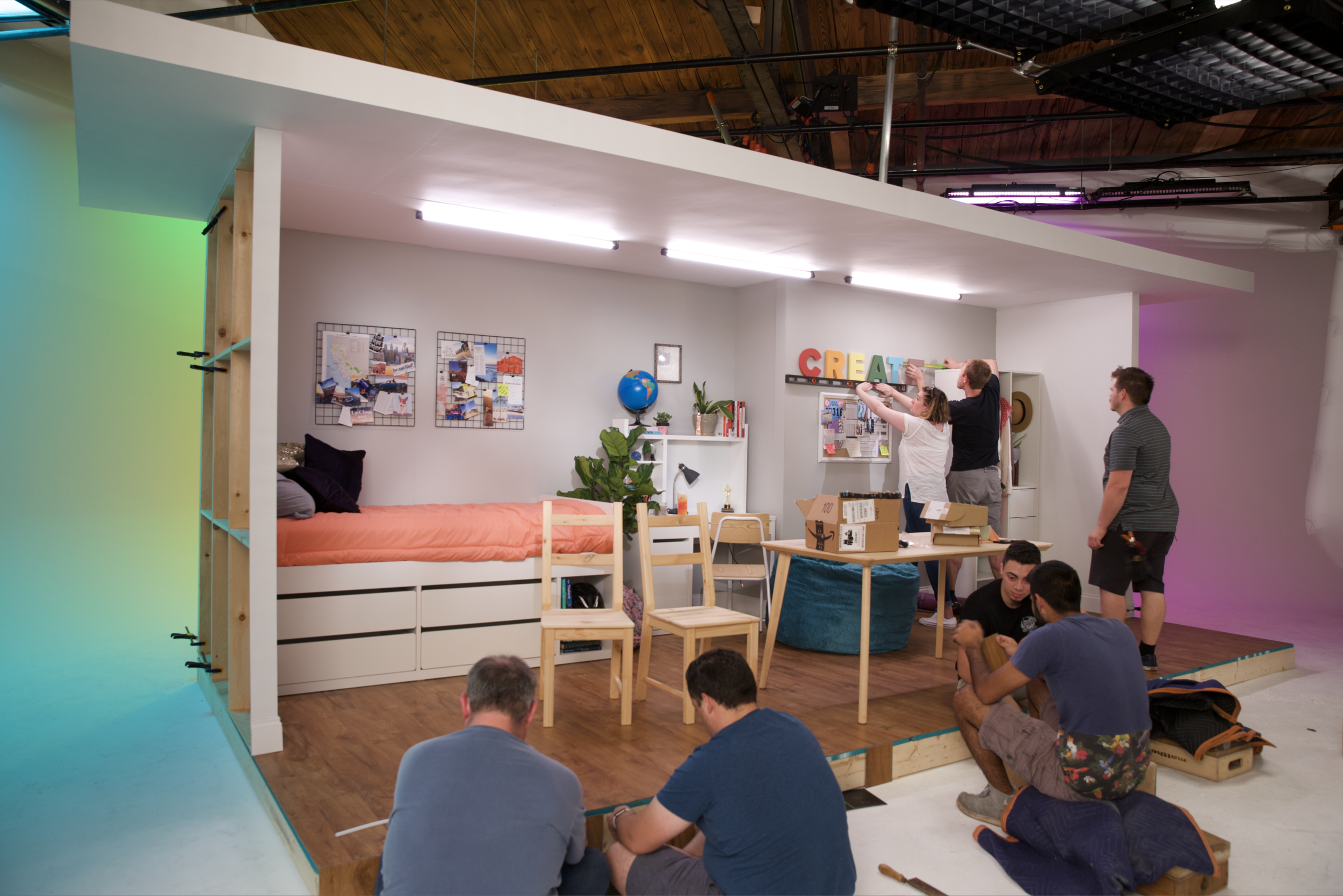 When we were first approached by Crayola and asked to build sets to replicate a child's bedroom or playroom, we thought it might be outside of our capabilities. But we went into research mode, rolled up our sleeves, and now building sets is one of our most welcome challenges. Now, we feel there's no challenge we aren't up to.