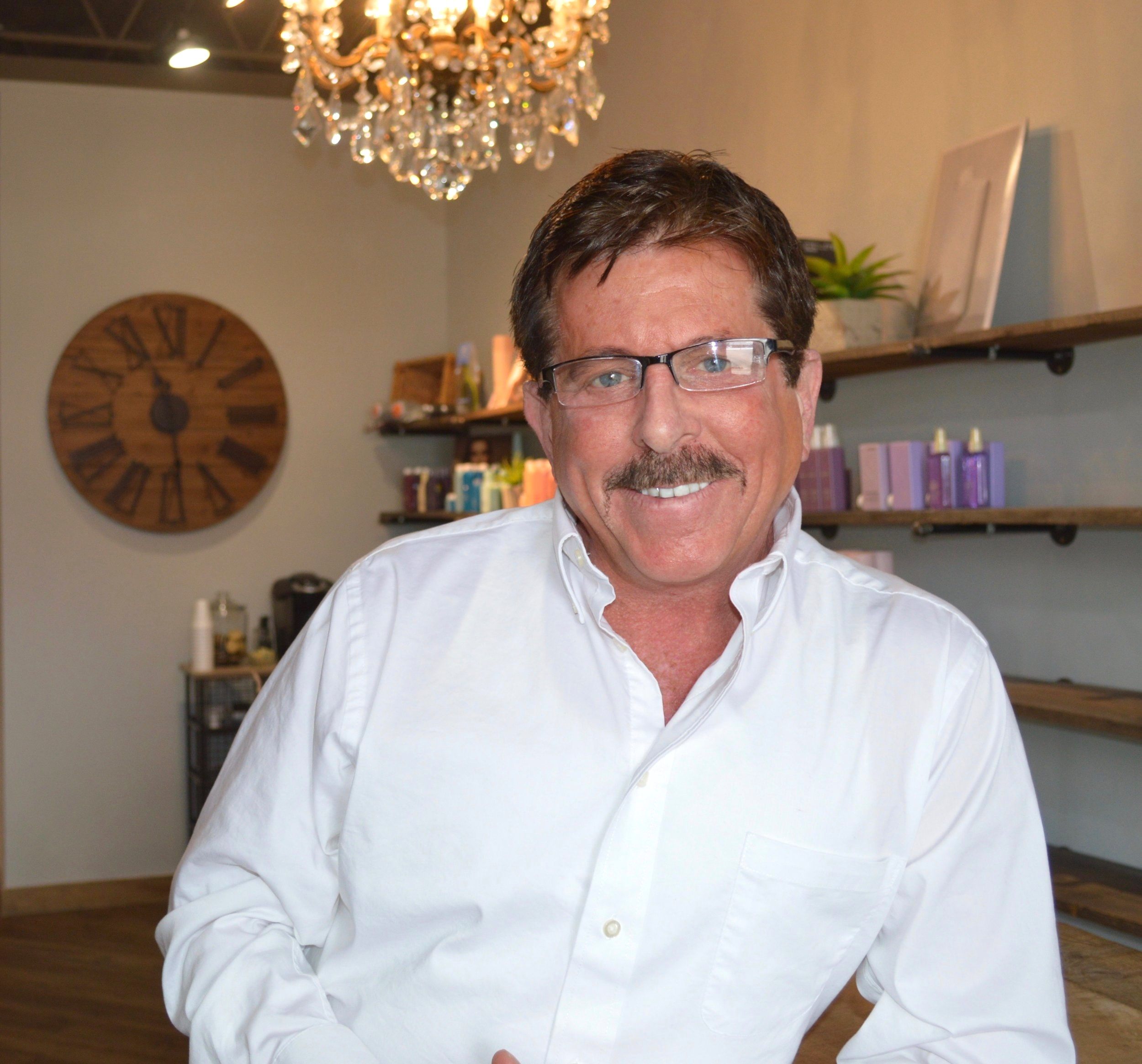 Frank Raso, stylist at Rian A Hair Studio in Akron, OH