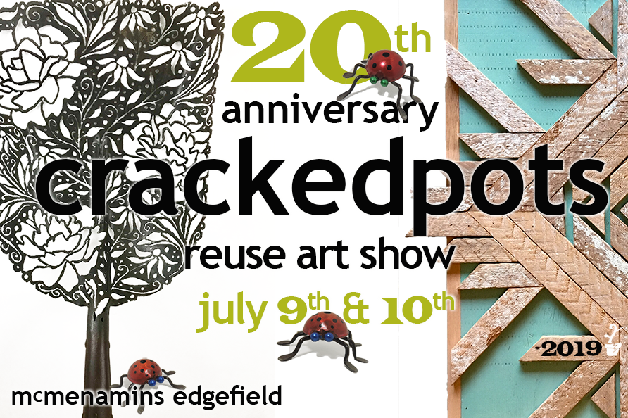 20th Anniversary Reuse Art Show - Join us at McMenamins Edgefield to celebrate 20 years of supporting creative reimagining and reuse in waste reduction! See our gallery of 2019 artists here.