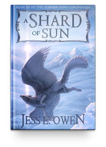 Shard is a gryfon entrusted with a great responsibility. A dragon of the Sunland has left her newborn kit to his care, and now Shard has difficult decisions to make about how best to keep the swiftly growing dragonet safe, while remaining true to his own destiny and the prophecy of the Summer King.